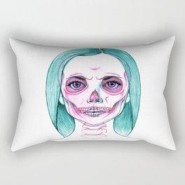 X-Ray Girl Rectangular Pillow