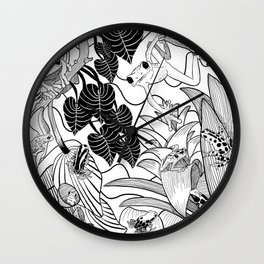 Forest Frogs Wall Clock