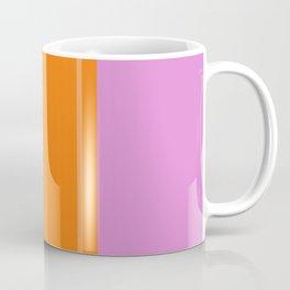 Orange Popsicle with pink background Coffee Mug