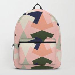 Retro pattern geometric Backpack