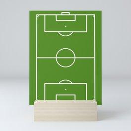 Football field fun design soccer field Mini Art Print