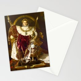 12,000pixel-500dpi - Napoleon I on his Imperial Throne - Jean-Auguste-Dominique Ingres Stationery Cards