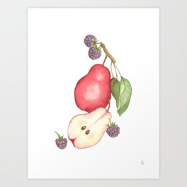 Fruits.... :\ Art Print