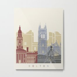 Volton skyline poster Metal Print