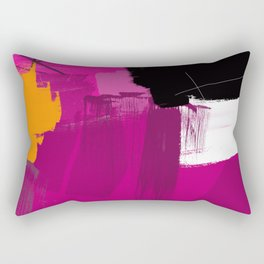 Purple abstract painting F06 pink black orange Digital painting Rectangular Pillow