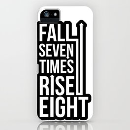 Rise (Black) iPhone Case