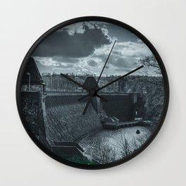 Möhne Reservoir Barrage Wall Sauerland Germany dark Wall Clock