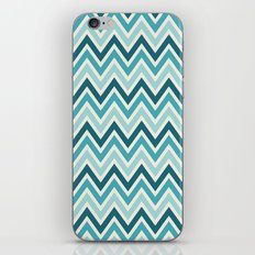Indie Spice: Turquoise Chevron iPhone & iPod Skin