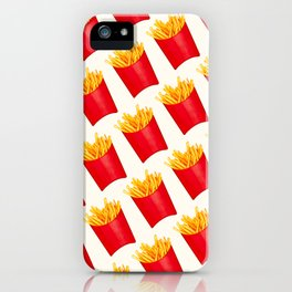 Fries Pattern - White iPhone Case
