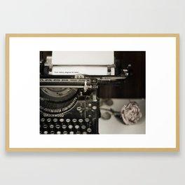 Your Story begins at Home Framed Art Print