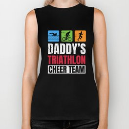 Daddys Triathlon Supporters Family Cheer  Biker Tank