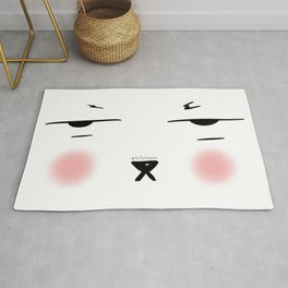 My resting face Rug