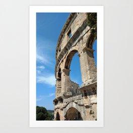 pula croatia ancient arena amphitheatre high Art Print