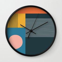 untitled 2 - blocks, lines & circle Wall Clock