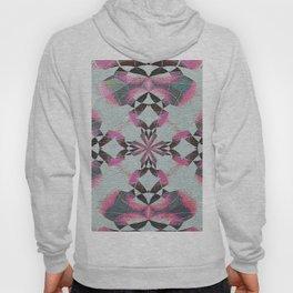 Organic Texture Mandala in Pink & Gray Hoody