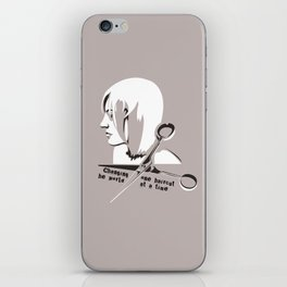 Changing the world one haircut at a time iPhone Skin