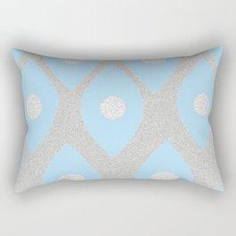 Eye Pattern Blue Rectangular Pillow