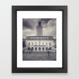 university of texas main building and tower Framed Art Print