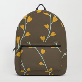 Heart Shaped Leaves on Curvy Vines Backpack