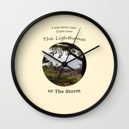 Never Sure if you were the Lighthouse Wall Clock