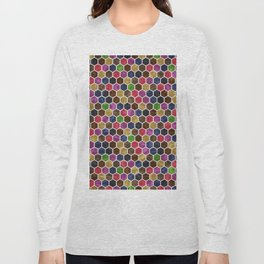Colorful Hexagon Seamless Pattern Long Sleeve T-shirt
