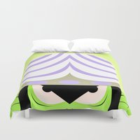 jojo Duvet Covers featuring Mojo Jojo Propaganda  by ArielPerrenot