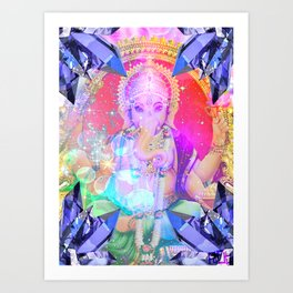 GANESH RAINBOW Art Print
