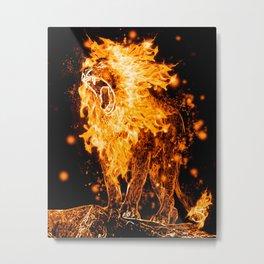 Flaming Lion Metal Print