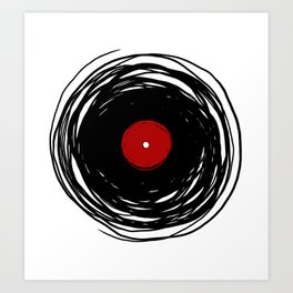 Spinning within with a vinyl record... Art Print