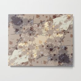 Autumn Leaves and Colors Pattern Metal Print