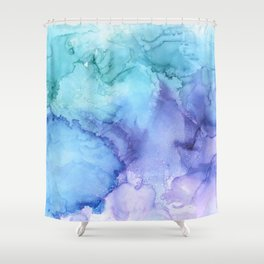 Northern Lights at Sea Shower Curtain
