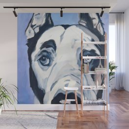 Great Dane in Purple Wall Mural
