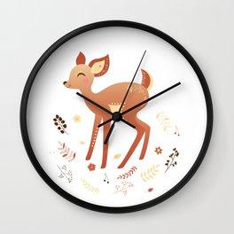 cute little deer Wall Clock