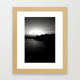 Sitting Over the Seine, Waiting on a Plane Framed Art Print