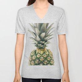 Tropical Pineapple Fruit Unisex V-Neck