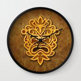 Stylish Stone Mayan Mask Wall Clock