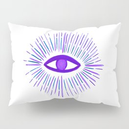 All Seeing Eye in Violet Purple Watercolor Pillow Sham