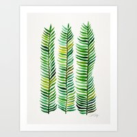 gold Art Prints featuring Seaweed by Cat Coquillette
