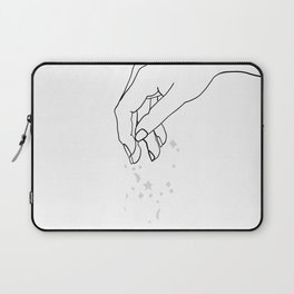 Magic Touch - Line Hand Drawing Laptop Sleeve