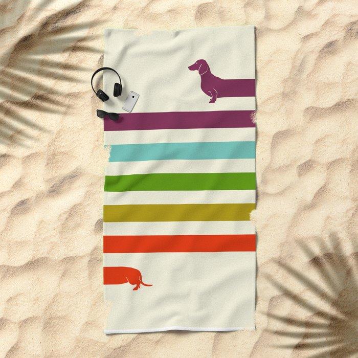 (Very) Long Dachshund Beach Towel