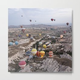 Air Ballons, Cappadocia, Turkey. Metal Print
