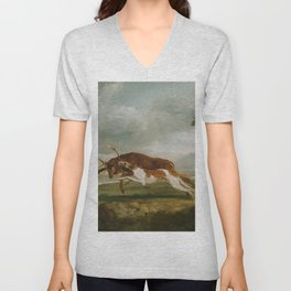 George Stubbs - Hound Coursing a Stag Unisex V-Neck