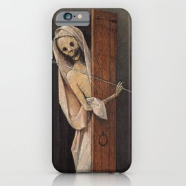 Hieronymus Bosch - Death And The Miser. iPhone Case