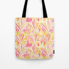 Art Deco Pattern in Pink and Orange Tote Bag