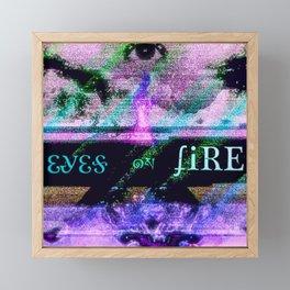 Eyes on Fire Framed Mini Art Print