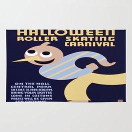 Vintage poster - Halloween Roller Skating Carnival Rug