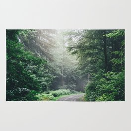 Dark Forest Path Rug