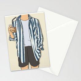 Stripes Boy - OOTD - Fashion Art Stationery Cards