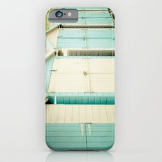 Duck Egg Blue and Cream Beach Huts iPhone 6s Slim Case