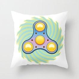 Fidget hand spinner Throw Pillow